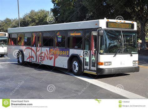 theme park express tx2 bus disney world resort transportation editorial photography