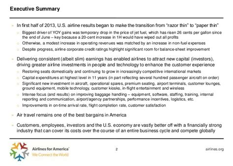 u s passenger airlines 2013 financial and operational results