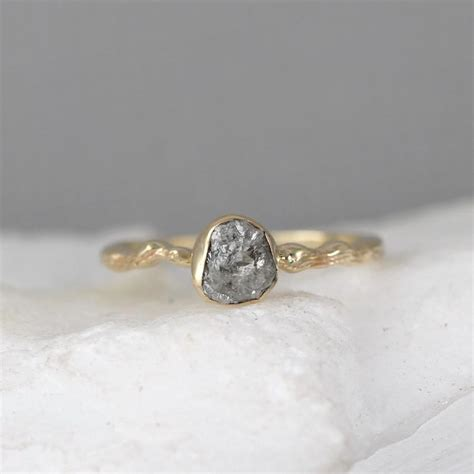 twig engagement ring 14k yellow gold branch