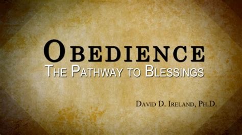 how to obedience to a listen to god obedience david d ireland ph d