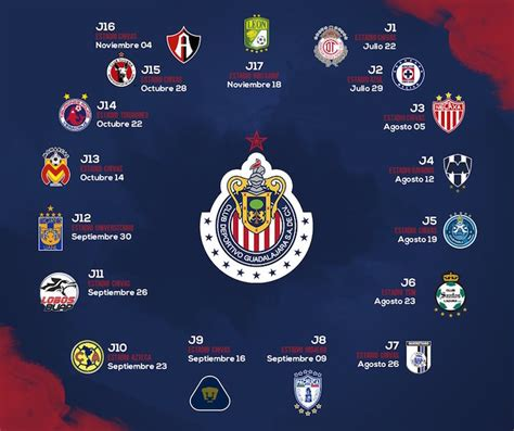 Calendario Liga Mx 2017 Chivas Filtran Posible Armamento Ce 243 N Chivas Estadio