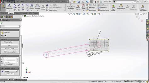 layout design solidworks solidworks kinematics tutorial layout sketch blocks