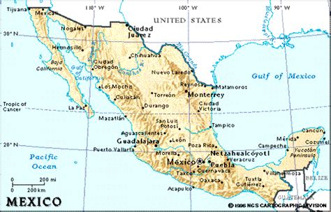map of mexico major cities introduction page