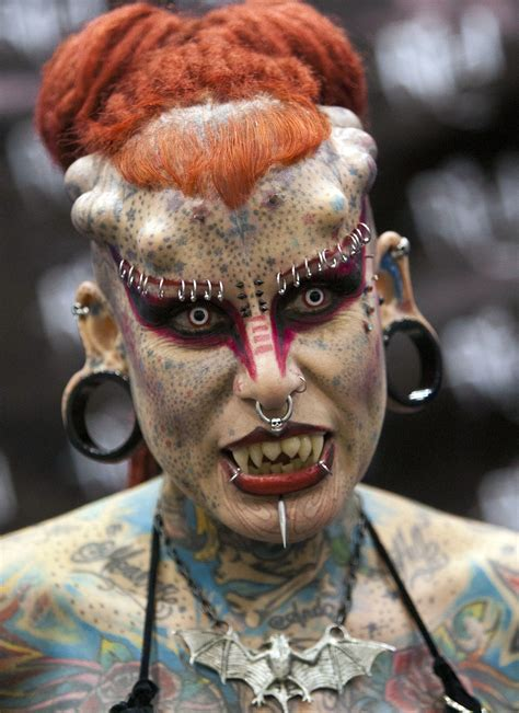 most tattooed woman in the world five modifications that are way the top wow