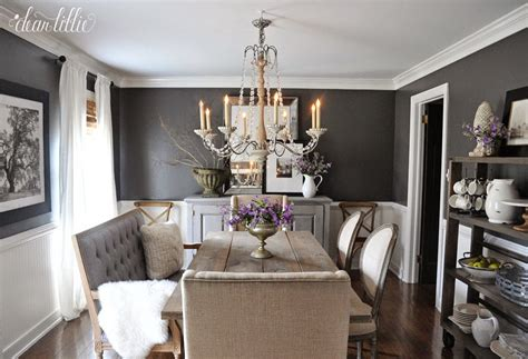 dark gray dining room dear lillie kendall charcoal in our dining room