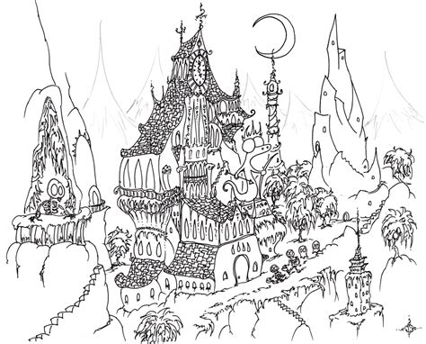 halloween coloring pages detailed teaching frenzy halloween haunted houses