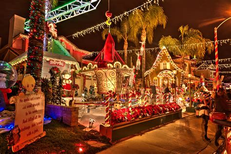 santa clarita christmas lights tour candy cane lane 2014
