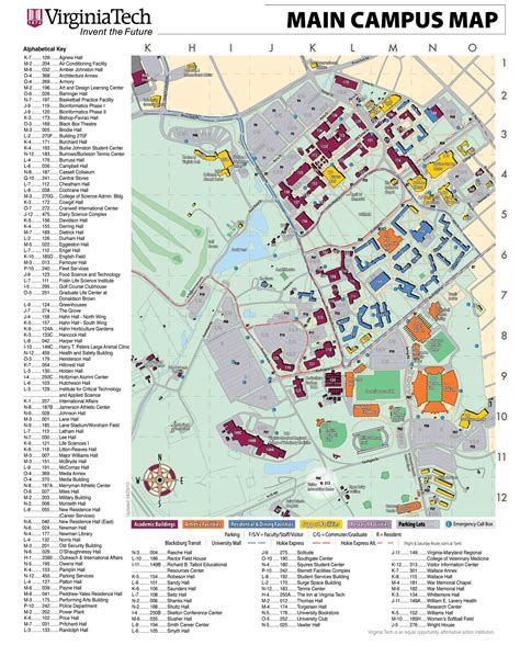 virginia tech map virginiatech cus map mapsof net
