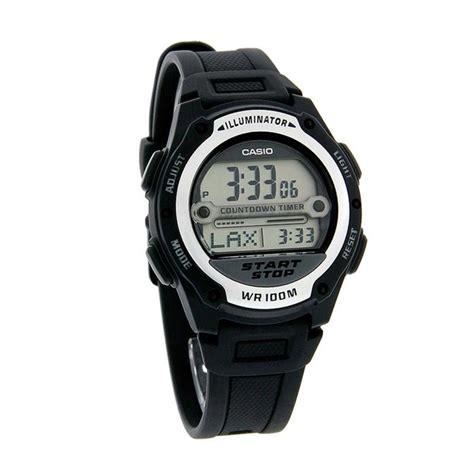 Jam Tangan Casio Pria W 212h 1avdf Black Silver Original Digital Keren jual casio w 756 1avdf resin jam tangan pria black harga kualitas terjamin blibli