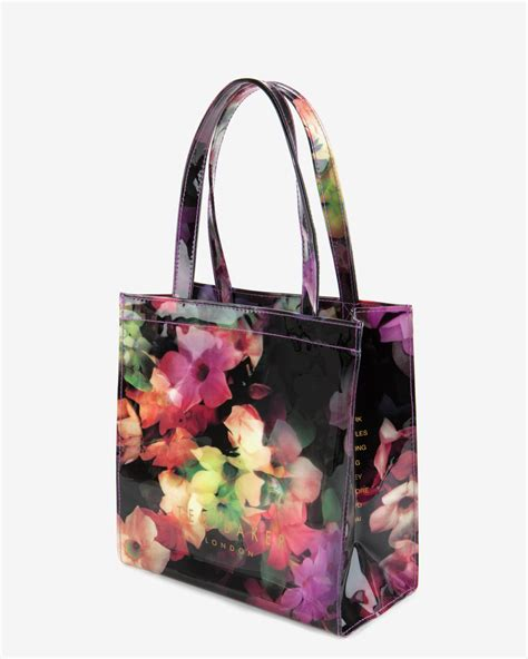 Floral Shopper Bag lyst ted baker small cascading floral shopper bag in black