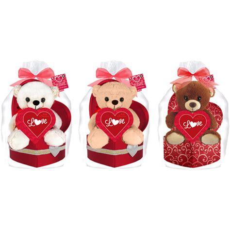 valentines day stuffed animals walmart stuffed animal chocolates gift set 3 pc
