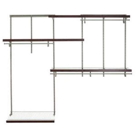 Home Depot Closet Organizer Kits by Closetmaid Shelftrack 5 Ft 8 Ft Nickel Wire Closet