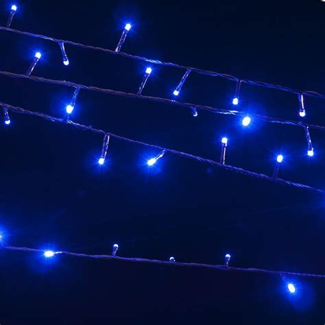 blue led string lights yorkshire trading company