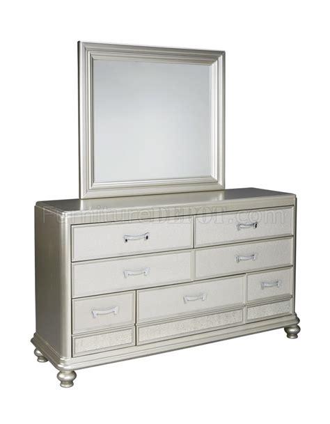 silver finish bedroom furniture coralayne bedroom b650 in silver finish by ashley furniture