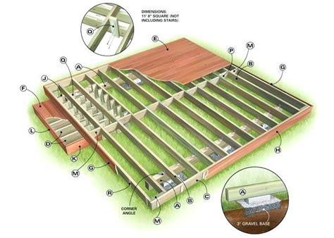 deck plans island deck construction drawings
