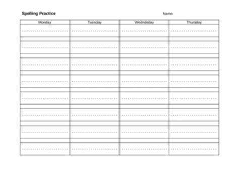 spelling practice blank worksheet  dotted lines  kari edmonds