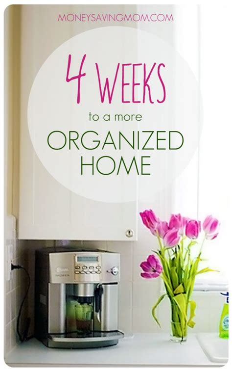 4 weeks to a more organized home assignment 1 money