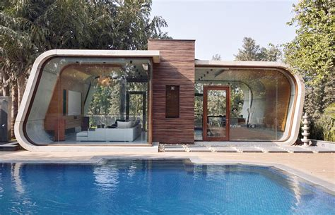 build a pool house 42mm architecture s sculptural pool house in india is