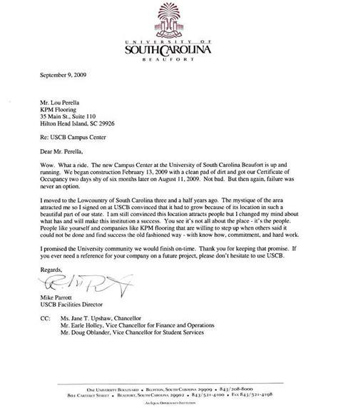 Recommendation Letter Usc Kpm Flooring