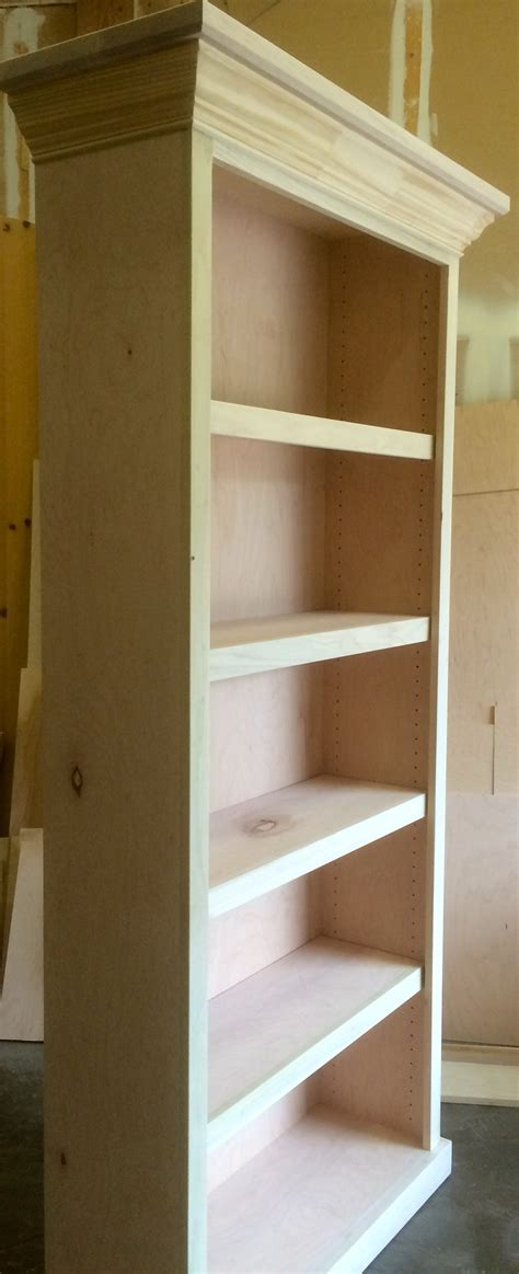 bookcase with crown molding bookcases wood gem custom cabinets