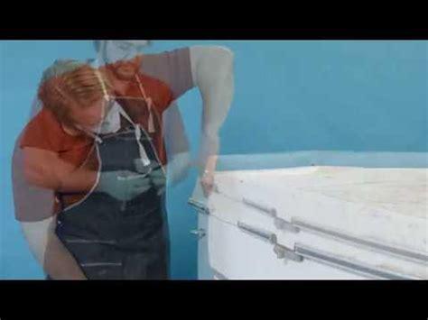 how to repair a crack in a fiberglass bathtub how to repair deep cracks in fiberglass boats youtube