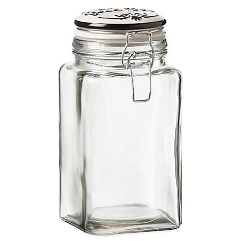 treat canister buy cresta glass treat canister from bed bath beyond