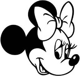 Mouse Minnie Outline Clipart Clipart Suggest
