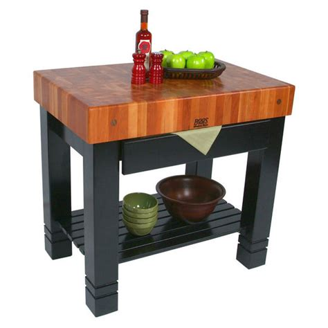 john boos kitchen island american cherry block de foyer butcher block kitchen
