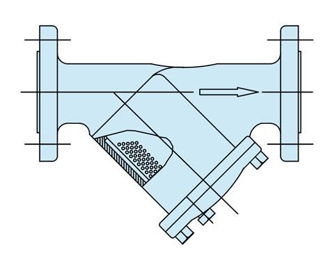 Y Strainer Drawing by Basket Strainers Cebeco