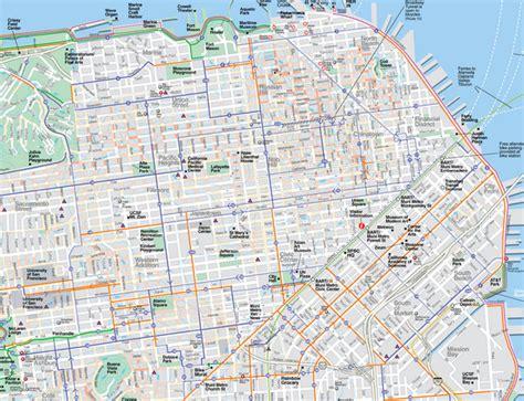 san francisco highways map san francisco road map michigan map