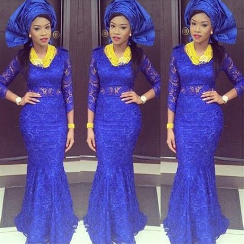 latest aso ebi dress 2016 sexy royal blue african mermaid evening dresses 2016 new