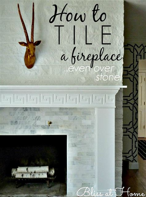 How To Tile Fireplace by How To Tile A Fireplace Bliss At Home