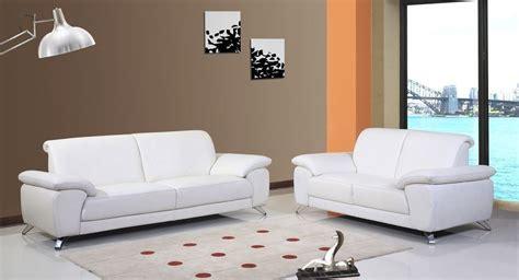 sofas de cuero blanco sof 225 s de 3 2 plazas