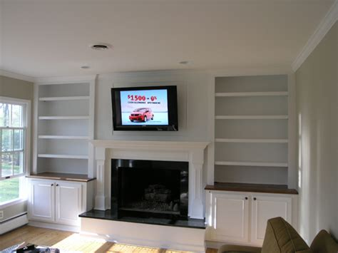 fireplace with bookcases on sides quotes