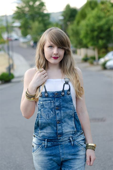 ombre hair for 13 yr old in hshire g star denim dungarees overalls outfit raindrops of sapphire