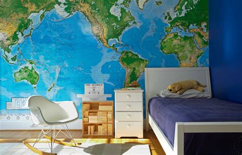wall map for room world map wallpaper contemporary boy s room jean allsopp photography