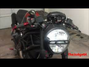 ducati monster headlight bulb replacement youtube