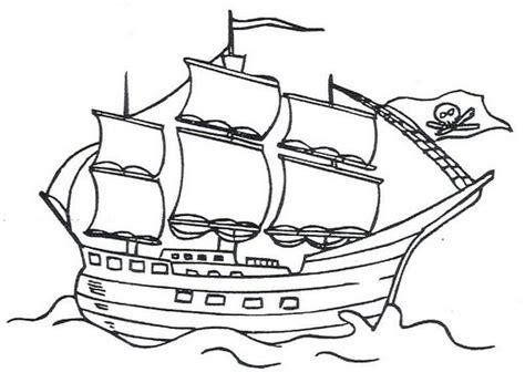 barcos para colorear de piratas pintar barcos piratas