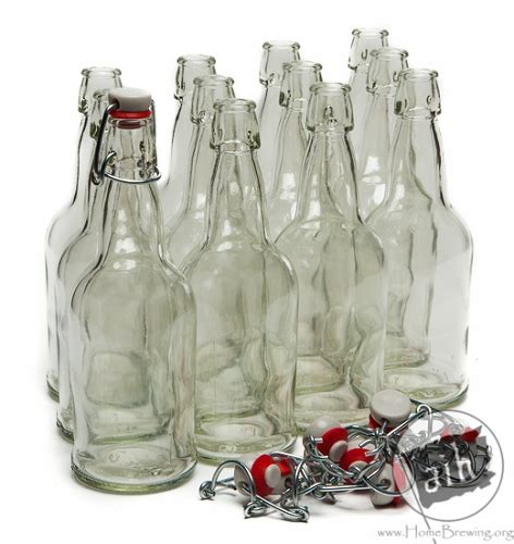 swing top bottle caps 16oz clear ez cap swing top bottles case of 12 bottles