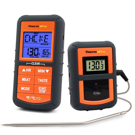 thermopro tp 07 300 range wireless thermometer remote bbq smoker grill oven