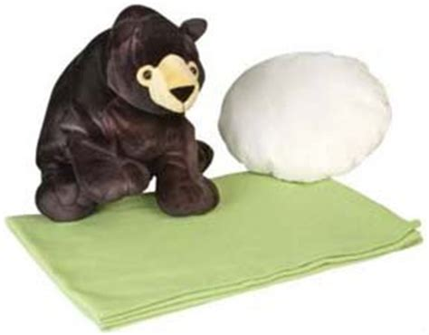 Stuffed Animal Pillow Blanket by Black Pillow Buddy Plush Stuffed Animal