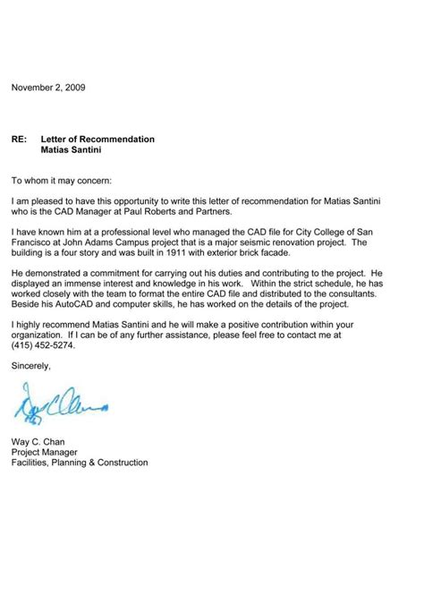 Letter Of Recommendation It letter of recommendation template format
