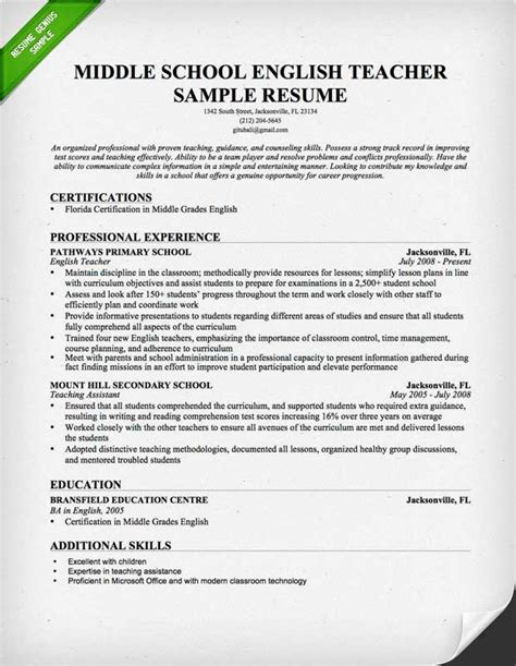 best solutions of cover letter for experienced english teacher for