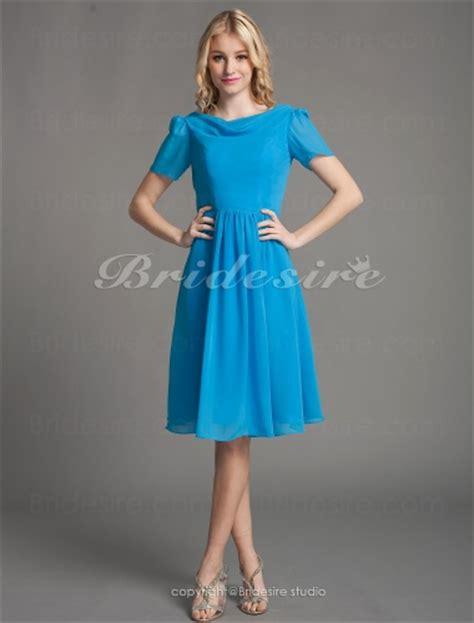 a linie u ausschnitt kurz mini chiffon brautjungfernkleid mit gefaltet p545 bridesire a linie chiffon kurz mini wasserfall
