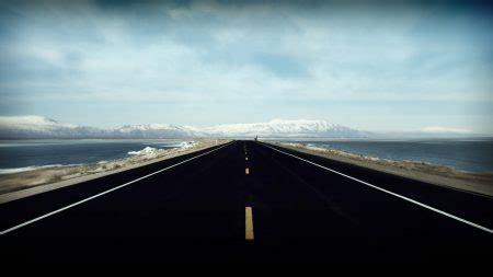 wallpaper  road markings distance sky