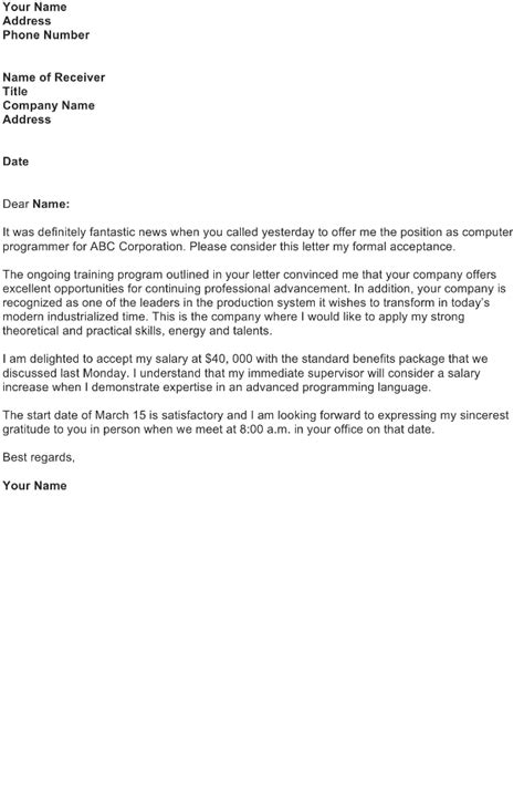 Program Acceptance Letter Acceptance Letter Sle Free Business Letter Templates And Forms