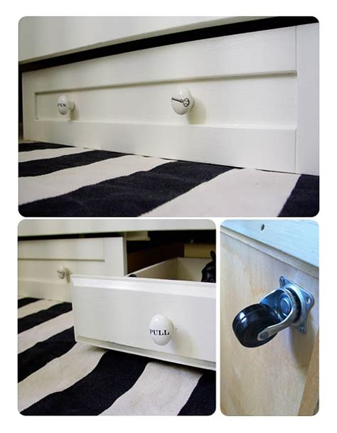 rolling under bed storage drawers rolling under bed storage out of old drawers diy