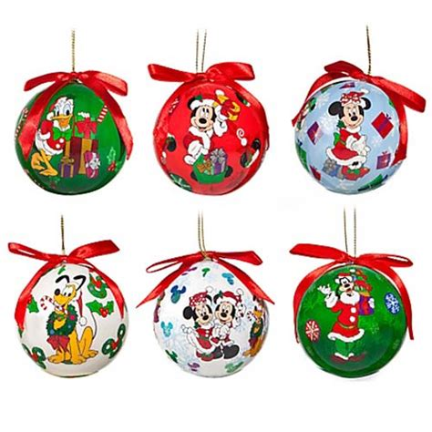 your wdw store disney christmas ornament set decoupage