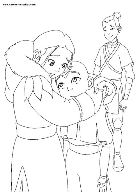 free avatar sokka coloring pages