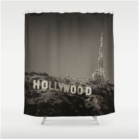 Vintage Hollywood Sign Shower Curtain By From Society6